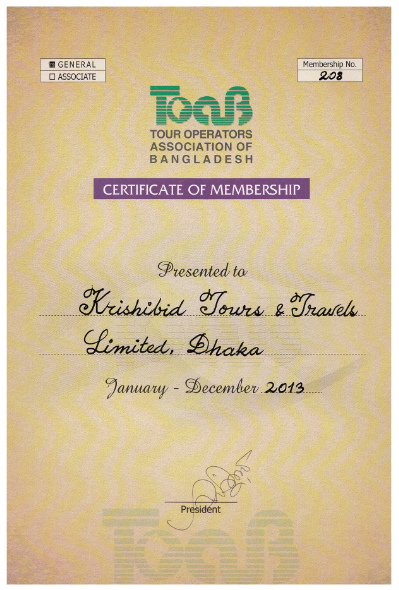 Certificate of TOAB